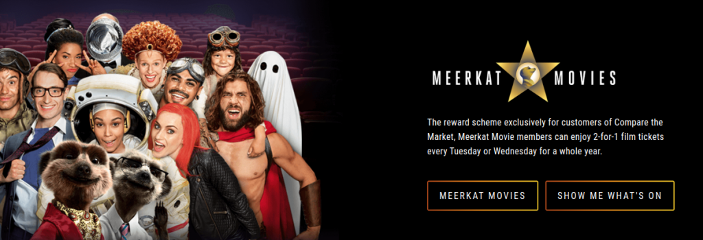 vue advertising of meerkat movies code