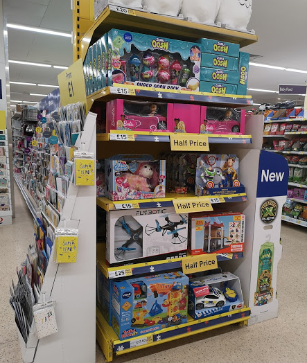 half price toy sale tesco