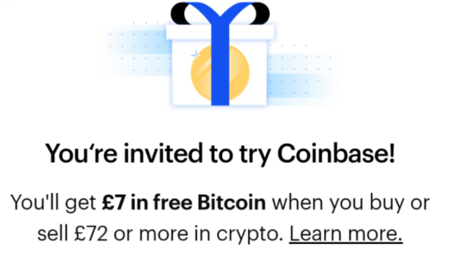 free crypto bitcoin ethereum promo offer from Coinbase